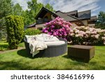 picture of simple rattan garden ... | Shutterstock . vector #384616996