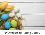 easter background with colorful ... | Shutterstock . vector #384621892