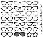 glasses icons on white... | Shutterstock .eps vector #384627868
