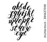 Handwritten Black Alphabet...