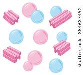 vector bubblegum illustration | Shutterstock .eps vector #384637492