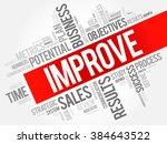 improve word cloud  business... | Shutterstock .eps vector #384643522
