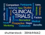 clinical trials word cloud on... | Shutterstock . vector #384644662