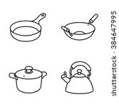 kitchenware vector icons | Shutterstock .eps vector #384647995