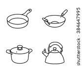 kitchenware vector icons   Shutterstock .eps vector #384647995