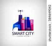 vector smart city  real estate... | Shutterstock .eps vector #384649042