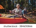 portrait of happy senior woman... | Shutterstock . vector #384650866