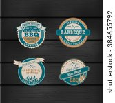 set of barbecue bbq logo  stamp ... | Shutterstock .eps vector #384655792
