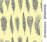 seamless hand drawn graphics... | Shutterstock . vector #384669685