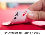 close up of male poker player... | Shutterstock . vector #384671488