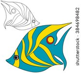 abstract fish coloring children ...   Shutterstock .eps vector #384698482