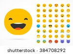 set of emoticons  emoji... | Shutterstock .eps vector #384708292