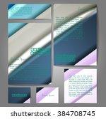 corporate identity template set.... | Shutterstock .eps vector #384708745