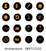 tailoring  vector icons for web ... | Shutterstock .eps vector #384712132