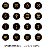time  vector icons for web... | Shutterstock .eps vector #384714898