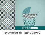 baby shower announcement ... | Shutterstock .eps vector #384722992