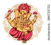 lord ganesh. ganesh puja.... | Shutterstock .eps vector #384725752