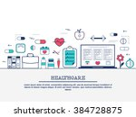 medical laboratory with... | Shutterstock .eps vector #384728875