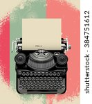 old typewriter  vector... | Shutterstock .eps vector #384751612