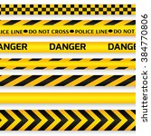 yellow with black police line ... | Shutterstock . vector #384770806