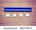 text game tiles spelling the...   Shutterstock . vector #384776572