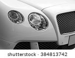 closeup headlights of luxury... | Shutterstock . vector #384813742