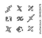 vector abstract logo x design... | Shutterstock .eps vector #384828478