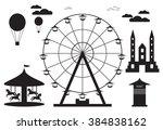 amusement park element with... | Shutterstock .eps vector #384838162