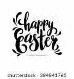 easter postcard with grunge... | Shutterstock .eps vector #384841765