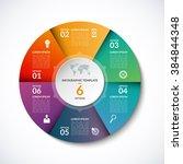 vector infographic circle... | Shutterstock .eps vector #384844348