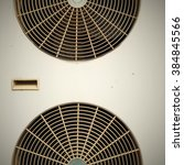 Small photo of Air Conditioner Ventilation Fan Background / Air Conditioner Ventilation Fan / Close-up Ventilation Fan of Air Conditioner Background