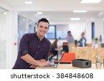 portrait of young businessman...   Shutterstock . vector #384848608