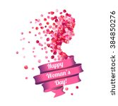 8 march. happy woman's day ... | Shutterstock .eps vector #384850276