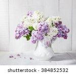 Lilac Bouquet In Ceramic Jug...