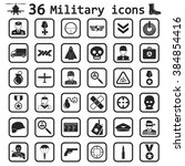 military icon set icon | Shutterstock .eps vector #384854416