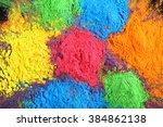 celebrate festival holi. indian ... | Shutterstock . vector #384862138