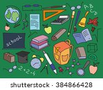 doodle  set of learning.   Shutterstock . vector #384866428