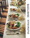 simple and elegant restaurant... | Shutterstock . vector #384873598