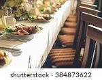 simple and elegant restaurant... | Shutterstock . vector #384873622