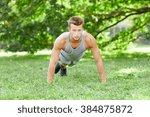 fitness  sport  exercising ... | Shutterstock . vector #384875872