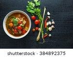 jackfruit curry  thai asia food ... | Shutterstock . vector #384892375