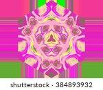 beautiful abstract pattern.... | Shutterstock . vector #384893932
