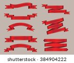 set of ribbons.ribbon banner... | Shutterstock .eps vector #384904222