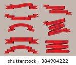 set of ribbons.ribbon banner...   Shutterstock .eps vector #384904222