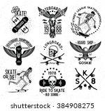 set of skateboarding labels and ... | Shutterstock .eps vector #384908275