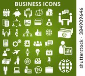 set of business icons. business ... | Shutterstock . vector #384909646