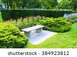 Bench In Garden. Bench In...