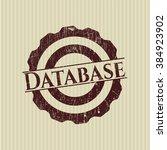 database rubber stamp | Shutterstock .eps vector #384923902