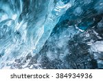 the ice cave in iceland near...   Shutterstock . vector #384934936