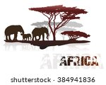 Silhouette Of Africa Trees And...